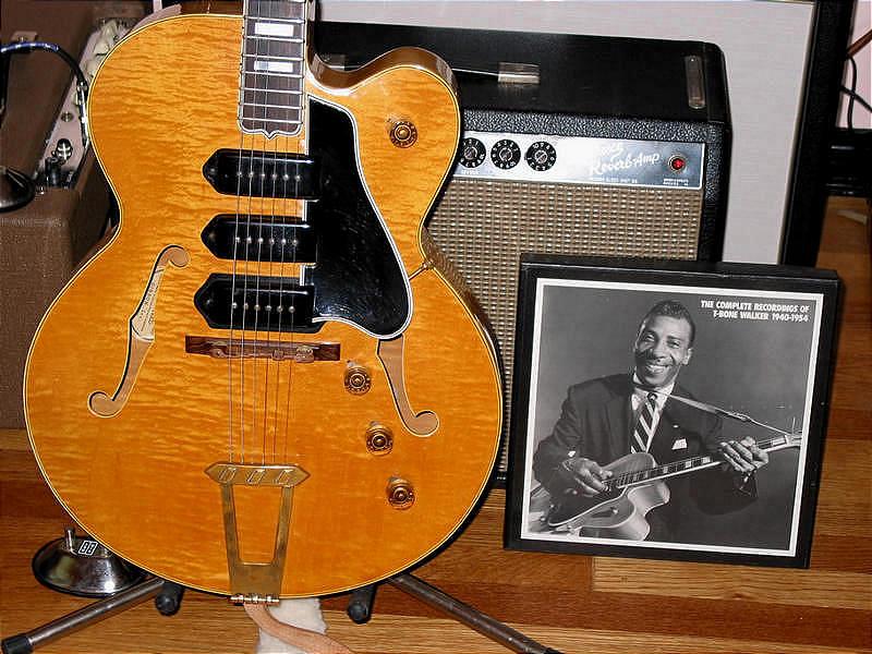 photo de guitar vintage , signature , blues et jazz  2415_p33153