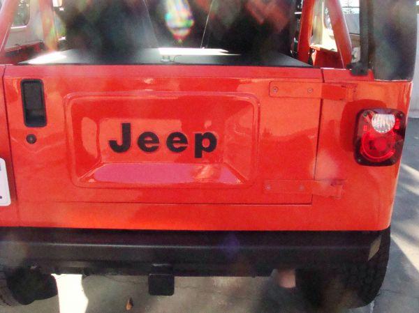jeep logo tailgate mod completed. Black Bedroom Furniture Sets. Home Design Ideas