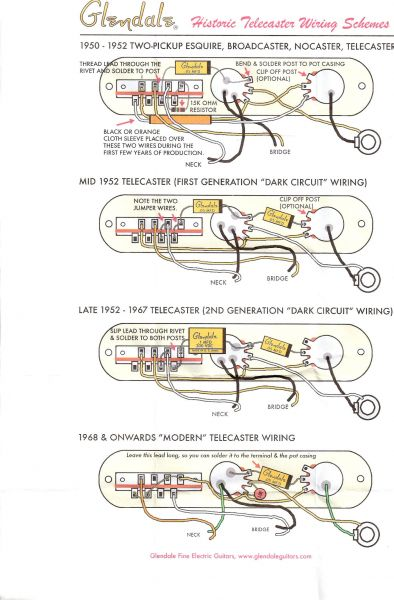 50 s tele wiring question here s a scan of the wiring diagram that i have only the first version does not have a tone pot the rest do i hope there s no copyright infringement in